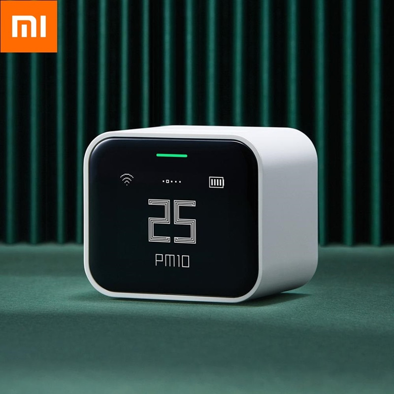 شاومي كينغبينغ كاشف الهواء لايت الشبكية تعمل باللمس IPS شاشة تعمل باللمس عملية pm2.5 مي الرئيسية APP التحكم مراقبة الهواء