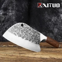 xituo butcher boning knife high carbon steel kitchen cooking knife professional chefs knife color wood handle meat cleaver tool