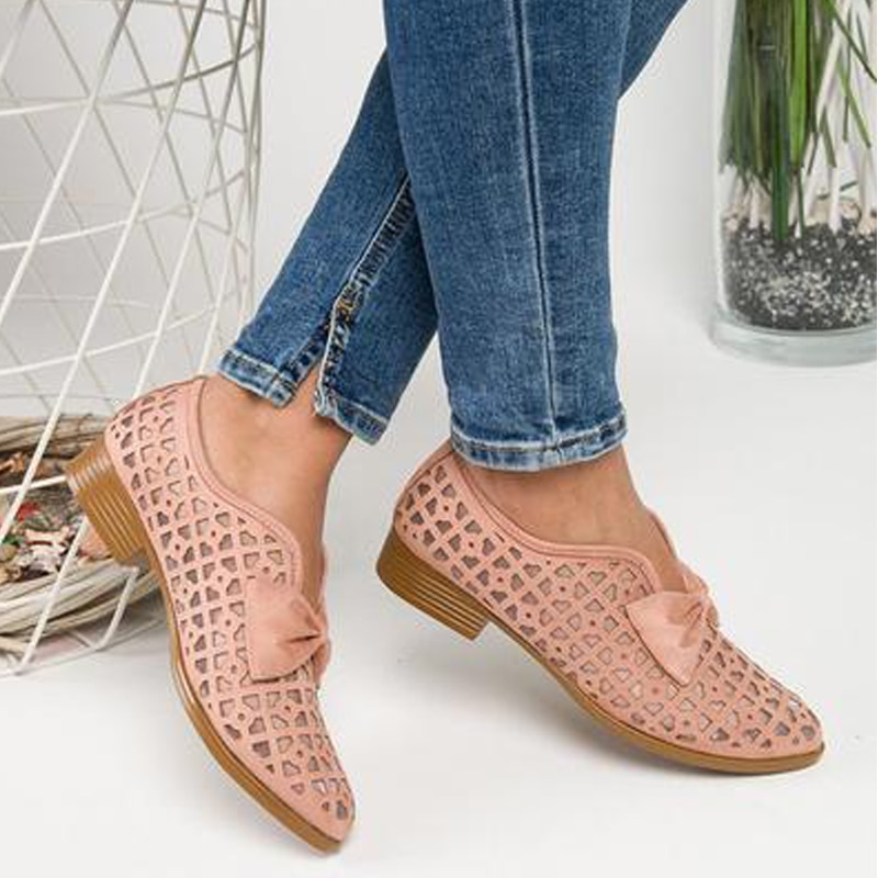 creepers new arrival medium b m 0 3cm big size 34 51 2017 new bottom women ballerina for ballet shoes flats pointed toe e1277 2021 New Women Flats Bowtie Pointed Toe Spring Shoes Platform Slip on Loafers Leather 43 Big Size