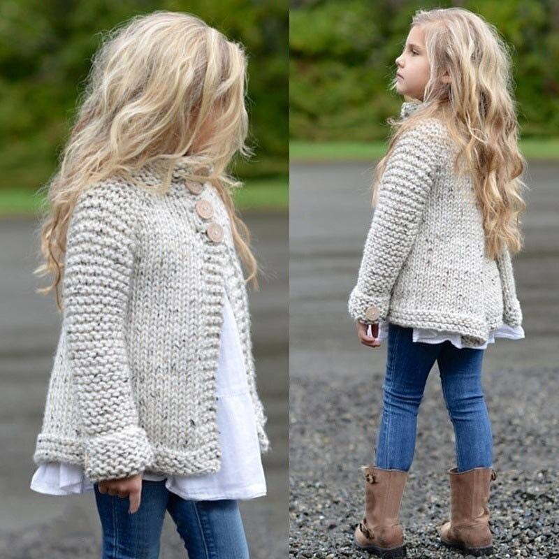 TELOTUNY suéteres para bebés pequeños niños Niñas Ropa botón tejido suéter cárdigan abrigo tapas 2019