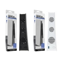 for ps5 vertical stand with cooling fan usb controller charger game console charging station fan cooler