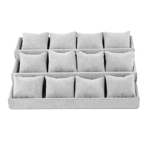Jewelry Box Organizer Display Holder Stand Watch Bracelet Bangle Storage Container Boxes Showcase Display Stand New