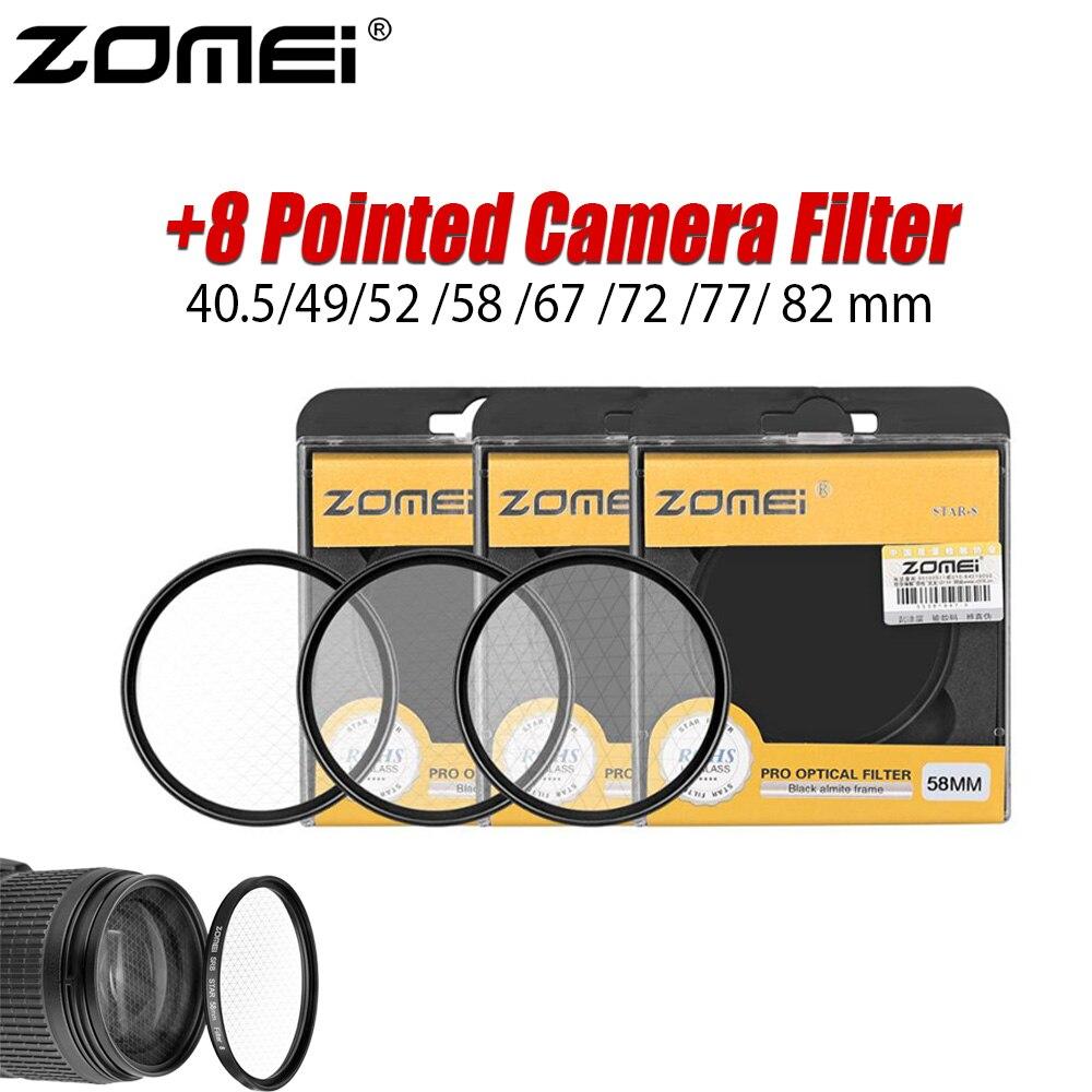 ZOMEI Камера фильтр 40,5 мм УФ-фильтр 49 мм 52 мм 58 мм 67/72/77/82 мм звезда с эффектом starburst + 8, туфли с острым носом для цифровой зеркальной камеры Canon Nikon ...