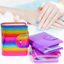 20-Card дизайн ногтей штамп пластины штамповки дизайн ногтей шаблон квадратной карты мешок гвоздь стальная пластина посылка Органайзер Сумка