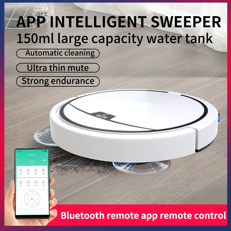 App Remote Control Robot Vacuum Cleaner With 150ml Water Tank Household Floor Cleaning Mopping Sweeper 2800Pa Robot aspirador