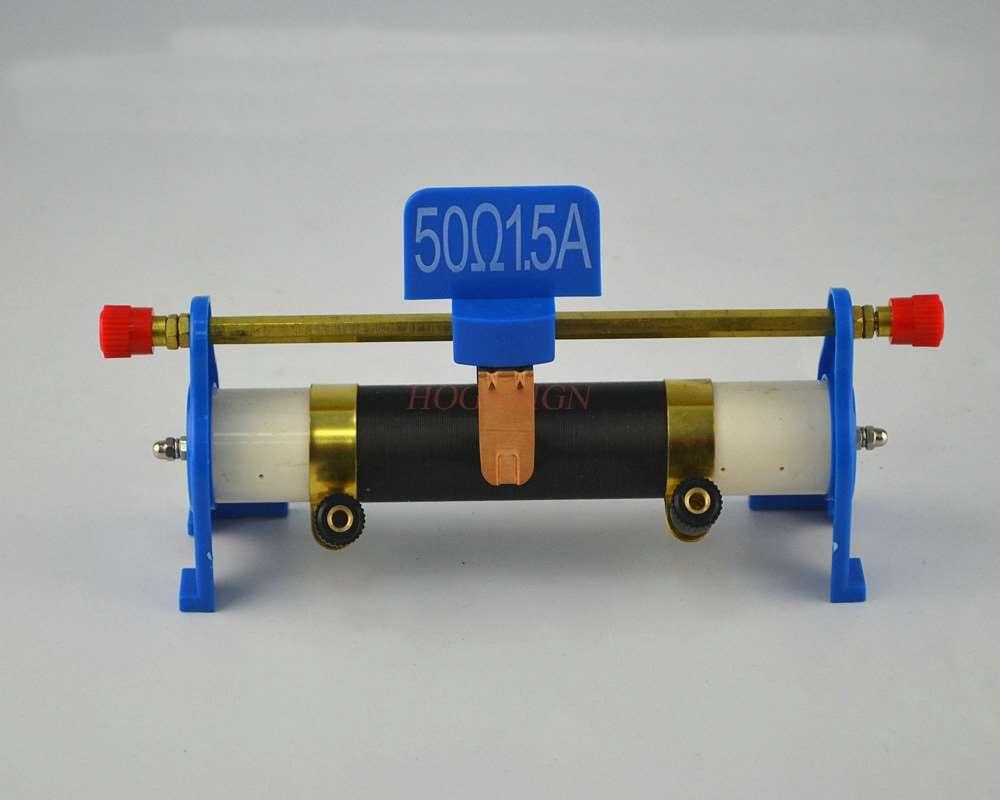 Reóstato de diapositiva de demostración magnética Reóstato de diapositiva 50 Euro 1.5A piezas de metal de cobre puro equipo de experimentos físicos Junior