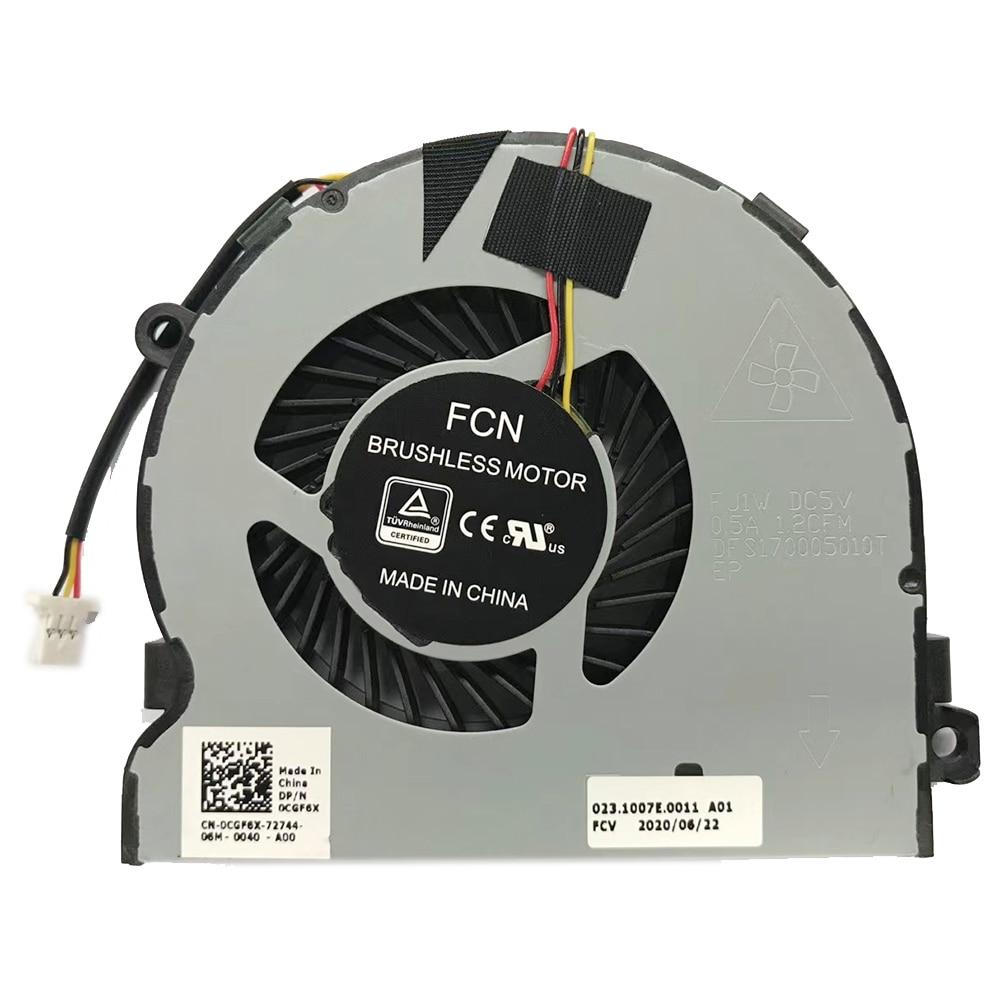 New original cpu cooling fan cooler for Dell Vostro 15-3568 15 3568 DFS170005010T FJ1W DC5V 0.5a 0CGF6X CGF6X