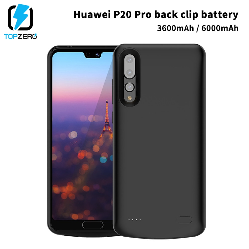 Funda de cargador de batería para Huawei P20 P20 Pro, funda externa portátil de Poverbank, funda para Huawei P20 Pro, funda de carga de silicona