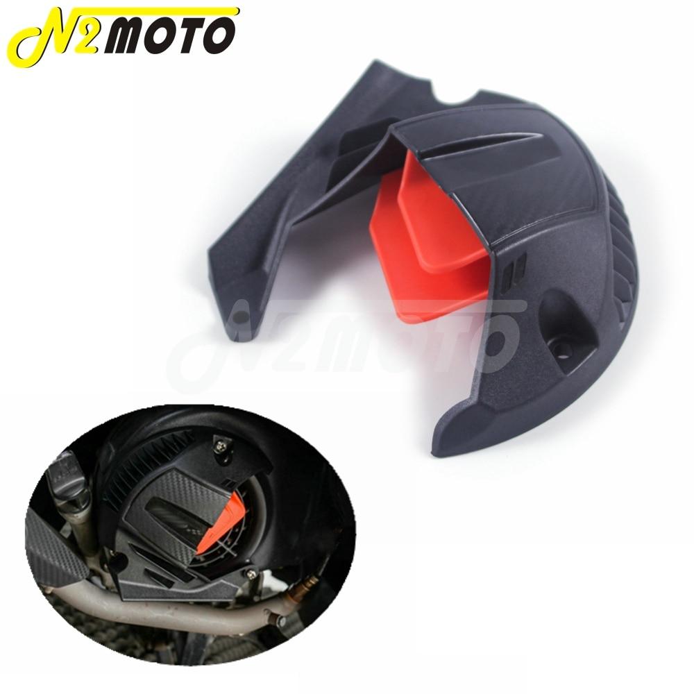 Cubierta de ventilador de motocicleta, protector de ventilador negro y rojo para Yamaha BWS R X 125 CYGNUS 125 2013-2016