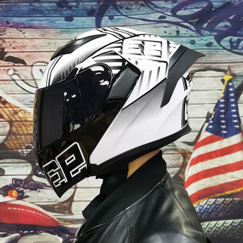 Doppel Schild Motorrad helm DOT ECE genehmigt flip up motorrad helm für alle kinder von motorräder
