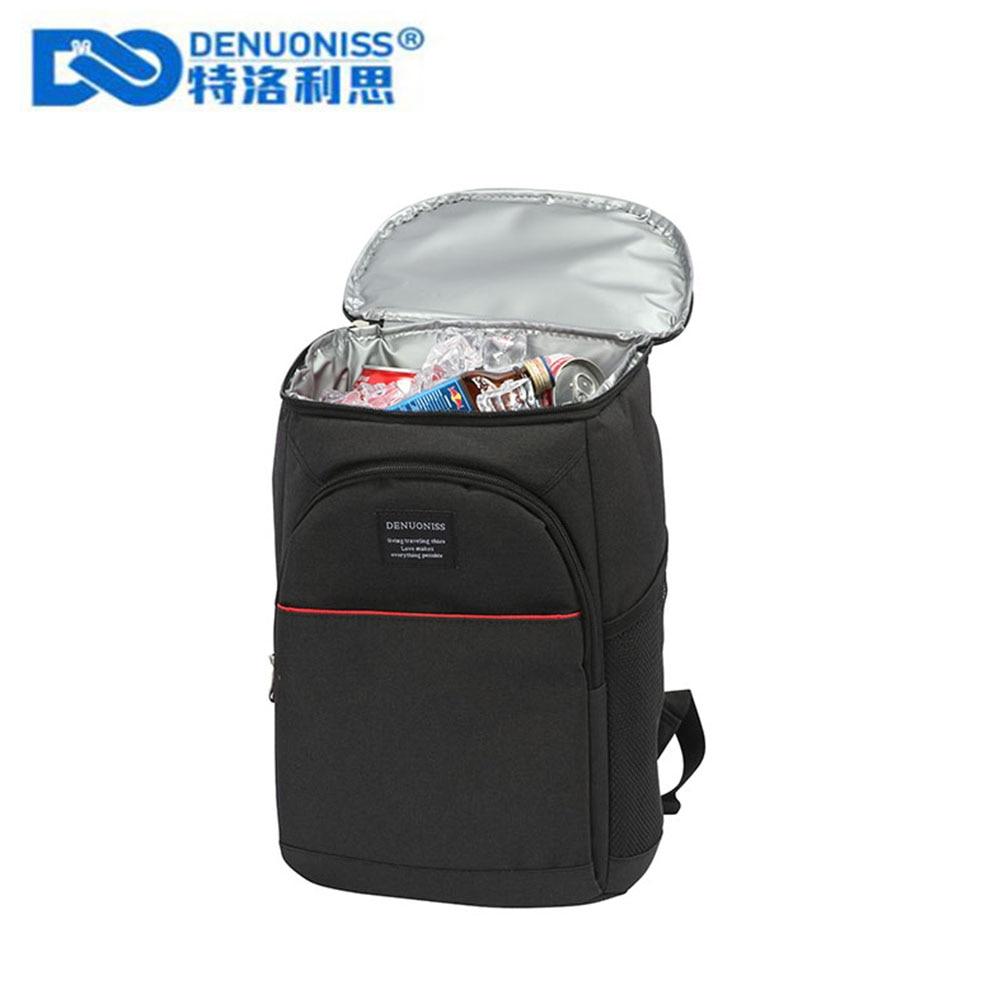 DENUONISS 20L الحرارية على ظهره مقاوم للماء سميكة حقيبة للحفاظ على البرودة كبيرة حقيبة معزولة حراريًا نزهة برودة حقيبة الظهر الثلاجة