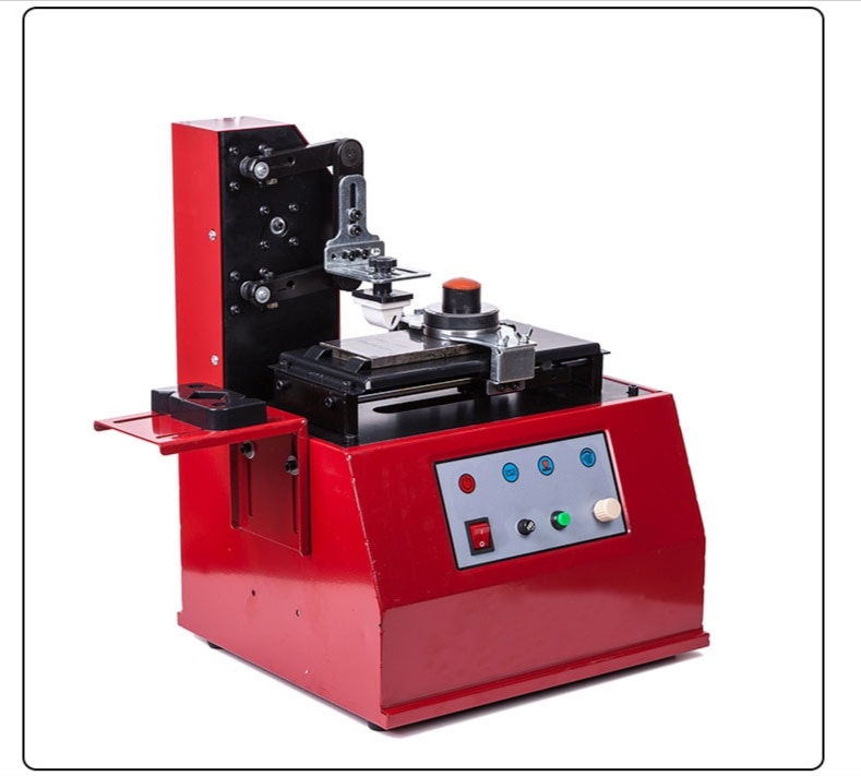 100W Electric Round Pad Ink Printer Printing Machine with Rubber Pad steel mould for Product Date Logo Print enlarge
