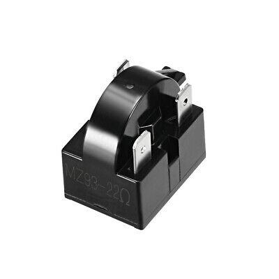 22 Ом 3-контактное реле стартера для холодильника PTC черного цвета