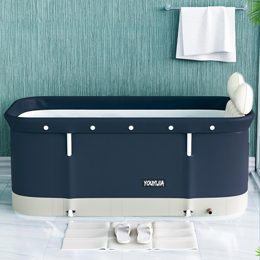 120 X 55 X 50 cm Bathtub Set Portable Folding Tub Bucket Kit For Adult Family PVC Beauty Spa Bathtub