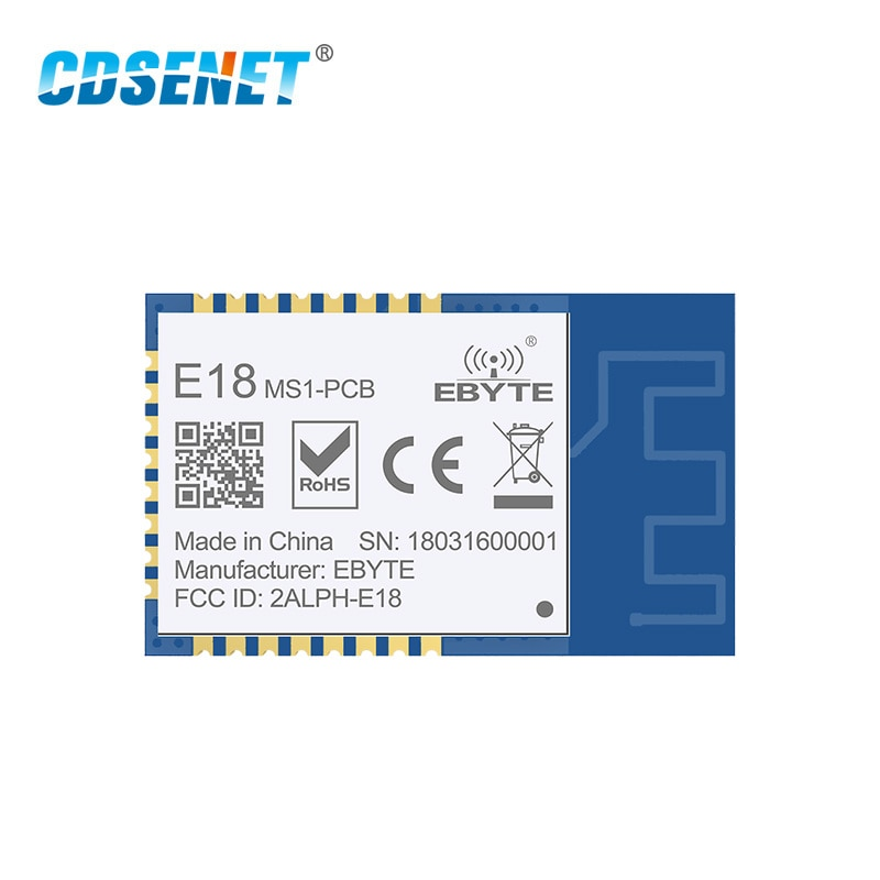 CDSENET 10 قطعة CC2530 2.4 جيجا هرتز 4dbm UART 200 متر المدى 256kb فلاش PCB هوائي SoC SMD زيجبي وحدة E18-MS1-PCB