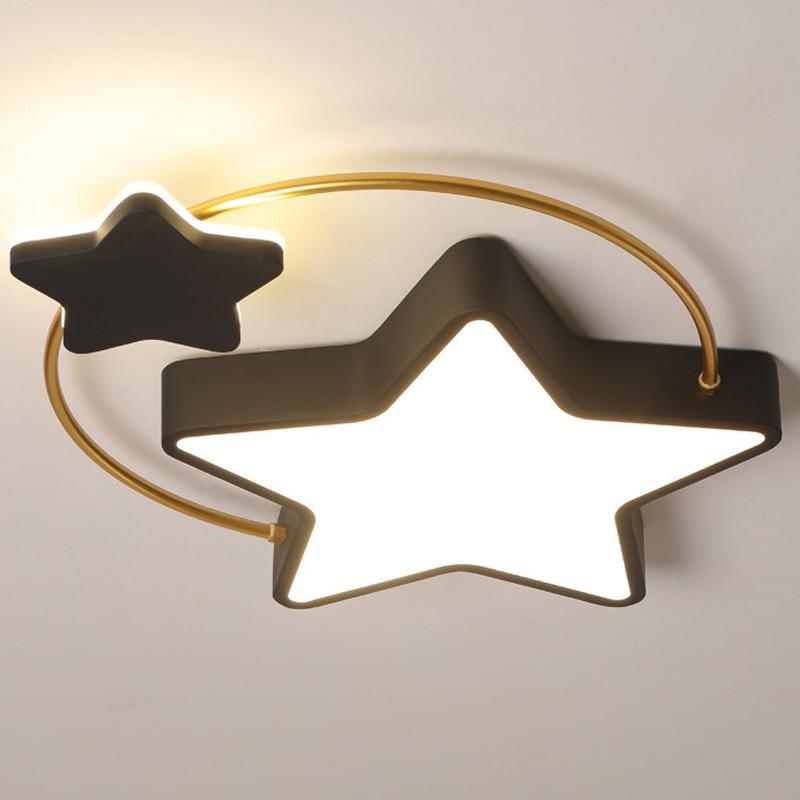 nordic simples e moderno quarto lampada do teto personalidade criativa led estrela
