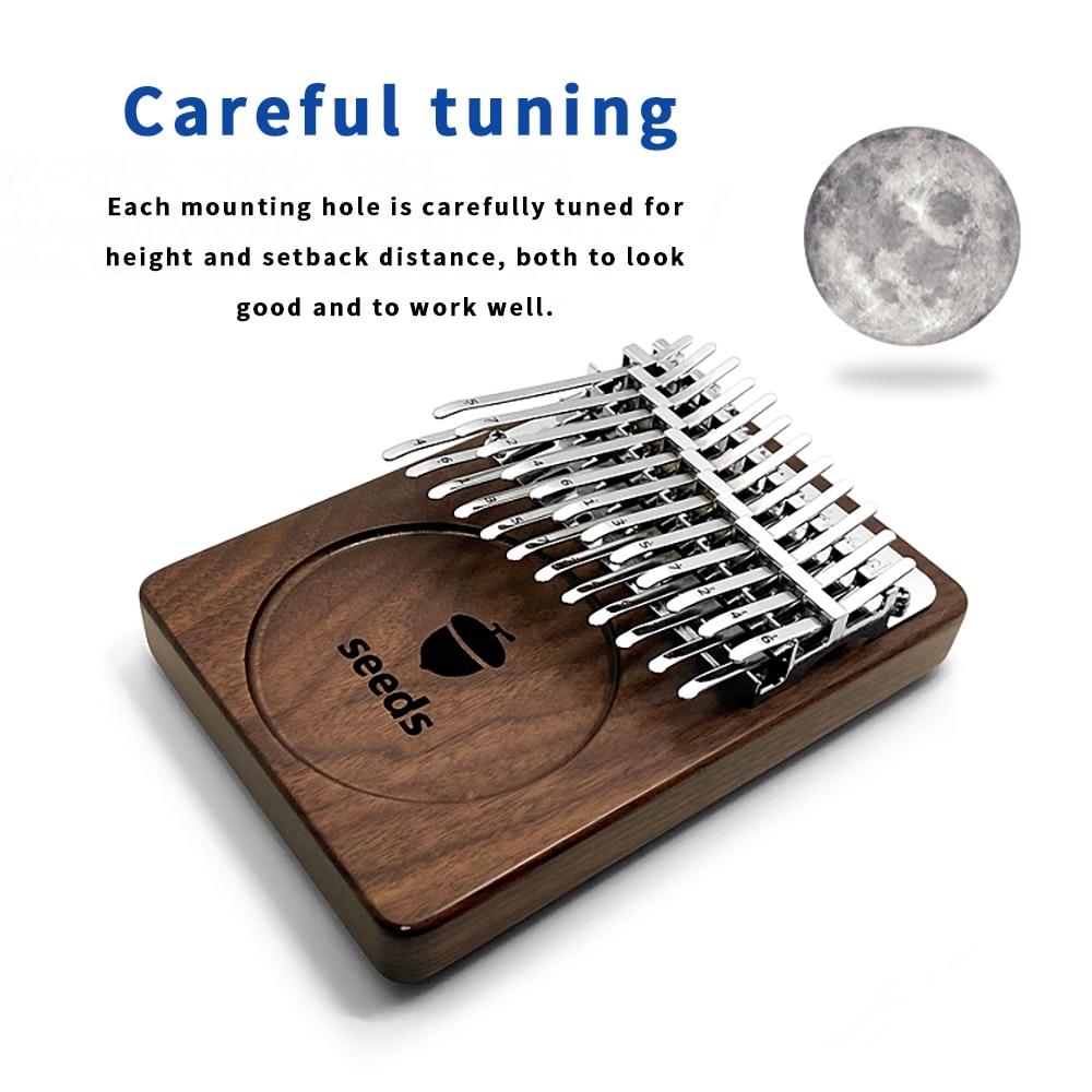 Kalimba 24 Key Double Layer Calimba Thumb Finger Piano Black Walnut Mbira Keyboard Musical instrument Christmas Gift Accessories enlarge
