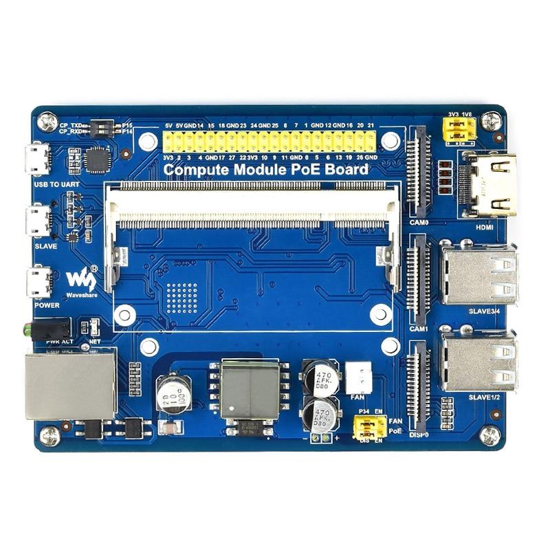 وحدة حساب IO مجلس PoE ميزة الطاقة عبر إيثرنت لوح تمديد لتوت العليق بي CM3 / CM3L / CM3 + / CM3 + L