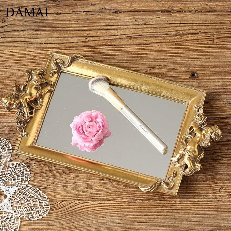 صواني مرآة زجاجية عتيقة على الطراز الاسكندنافي ، ديكور على شكل ملاك ، ترفيه إبداعي ، قلادة ، مجوهرات ، تخزين ، عرض ، حاوية مستحضرات تجميل