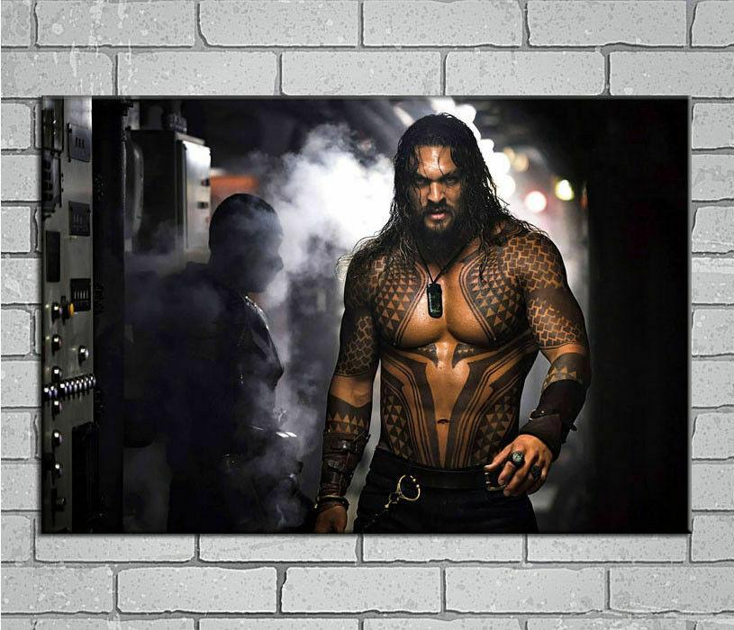 C525 CC Jason Momoa aquamán 2018 película superhéroe nuevo póster de seda pegatina de pared regalo de decoración