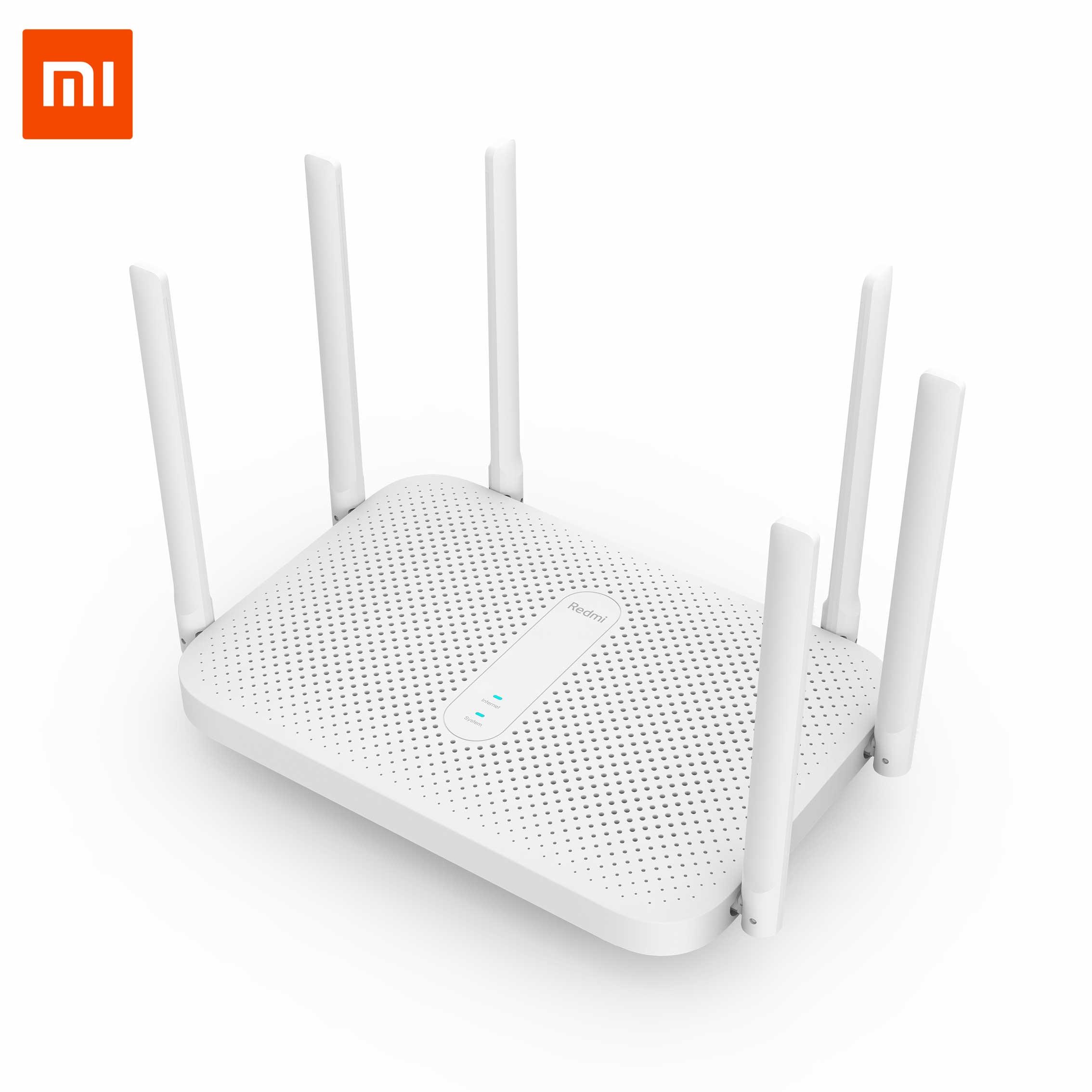 Original Xiaomi Redmi AC2100 Router Gigabit Router inalámbrico Wifi repetidor con 6 antenas de alta ganancia Configuración de cobertura más amplia inteligente