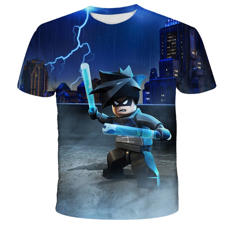 Summer Anime 3D cartoon tee Baby Boy Clothes Kids lovely Ninja Clothes Ninjago t shirt Children Clothing Boy Girls shirt