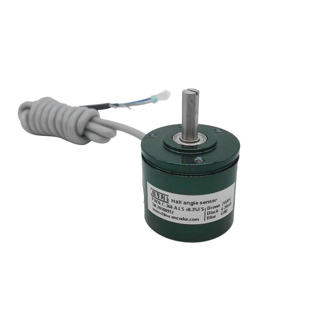 P3036 endless 360 degree angle sensors 0-5V 0-10v 4-20ma contactless hall effect magnetic encoder angular transducer