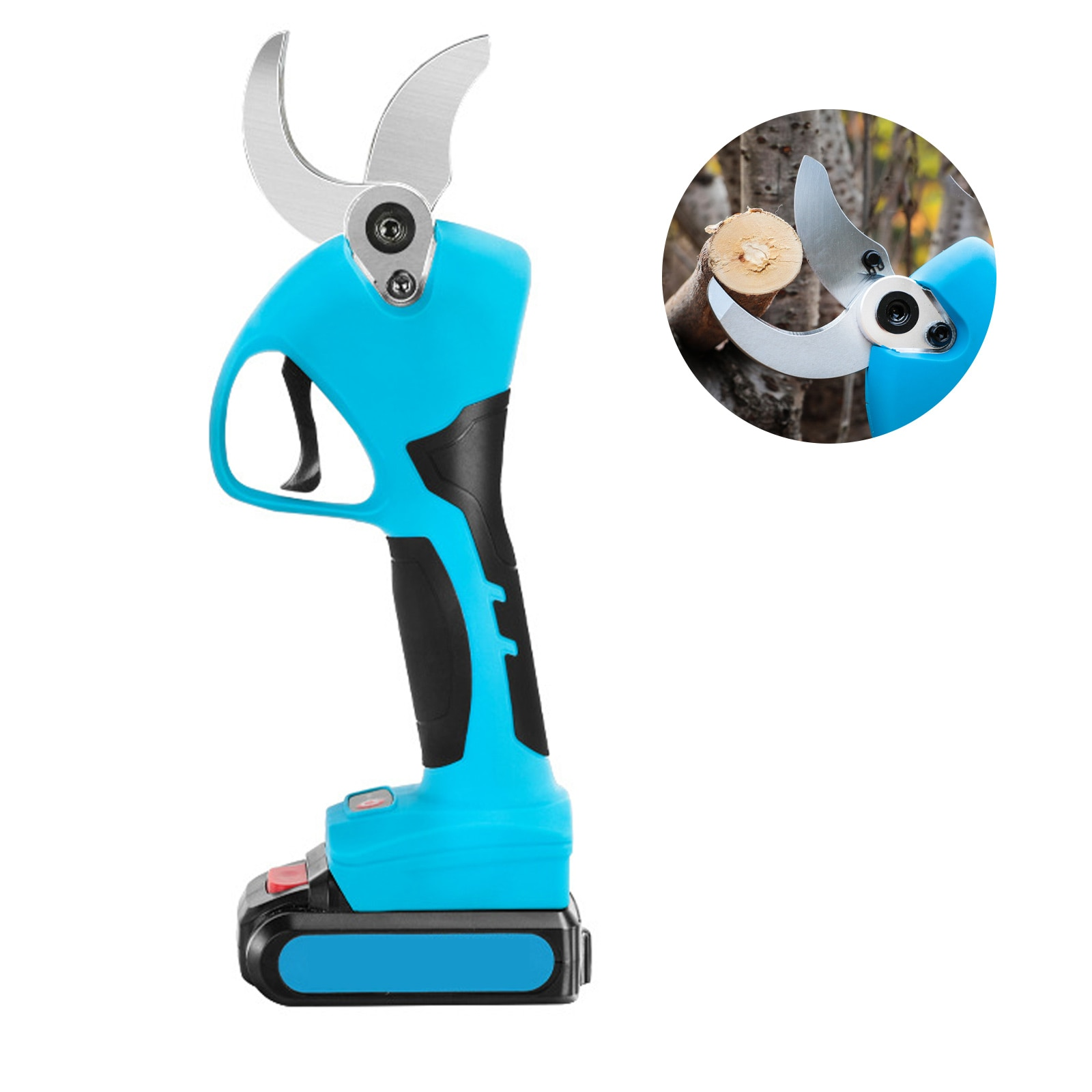 Электрические ножницы для обрезки, перезаряжаемый мощный секатор с регулируемым диаметром резки, электрические ножницы для ветвей с литие...