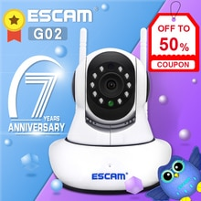 Yeni ESCAM G02 çift anten 720P Pan/Tilt WiFi IP IR kamera desteği ONVIF Max kadar 128GB video monitörü ip kamera