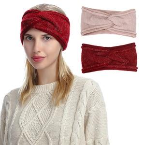 NEW Fashion Warm Knitted Headband For Women Wool Elastic Hair Band Top Knot Headwear Turban Fashion Girls Hair Accessories