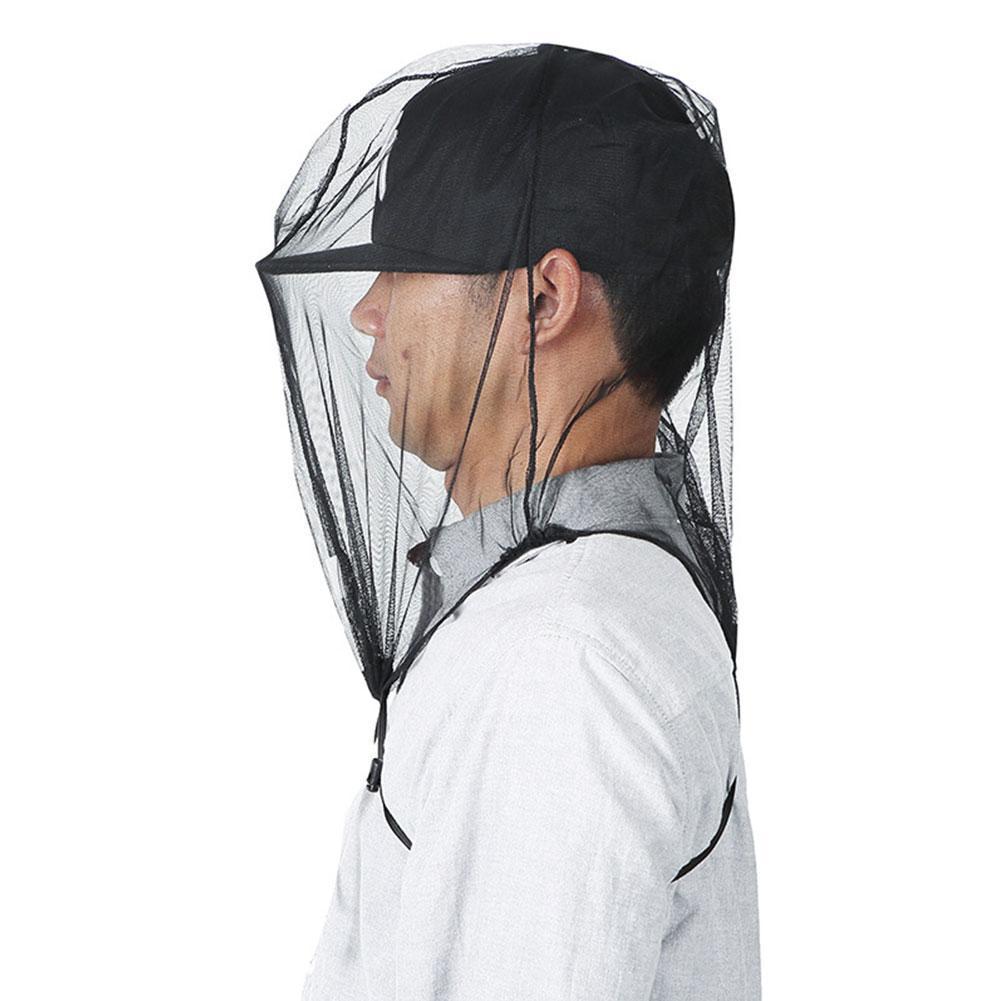 43*40cm sombrero anti-mosquito al aire libre jungla mosquito gorro de pesca al exterior aventura a prueba de polvo a prueba de insectos cubierta de la cabeza de malla