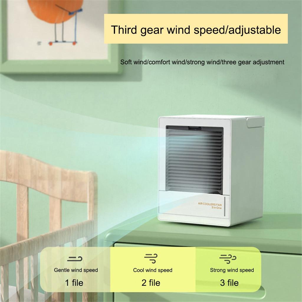 Refrigerador de ar Ventilador de ar Ventilador de Escritório Portátil Mini Multi-função Condicionado Removível Casa Inteligente Moda Mudo Desktop Usb