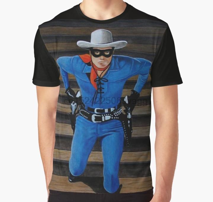 Camiseta con estampado completo para hombre, camiseta con gráfico LONE RANGER 2