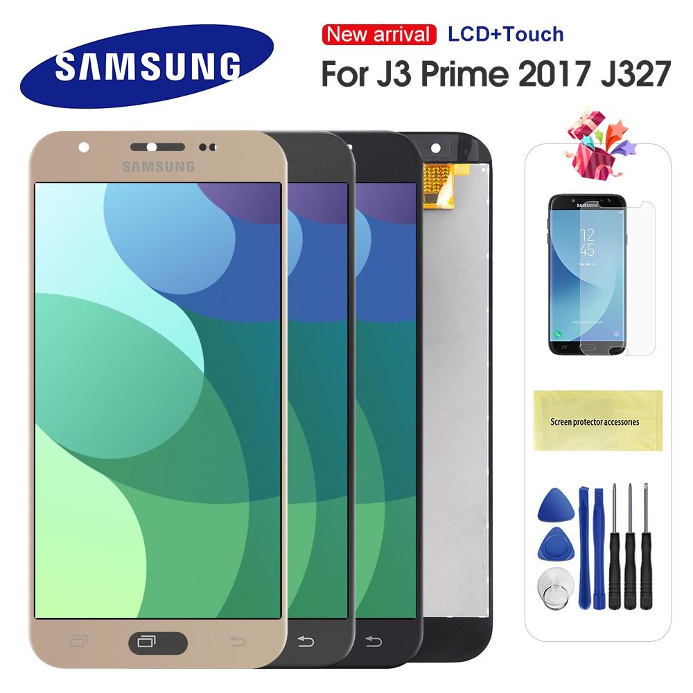 For Samsung Galaxy J327 J3 Prime 2017 Emerge 2017 2nd j327W J327V J327T J327P LCD Display Touch Screen Digitizer Assembly