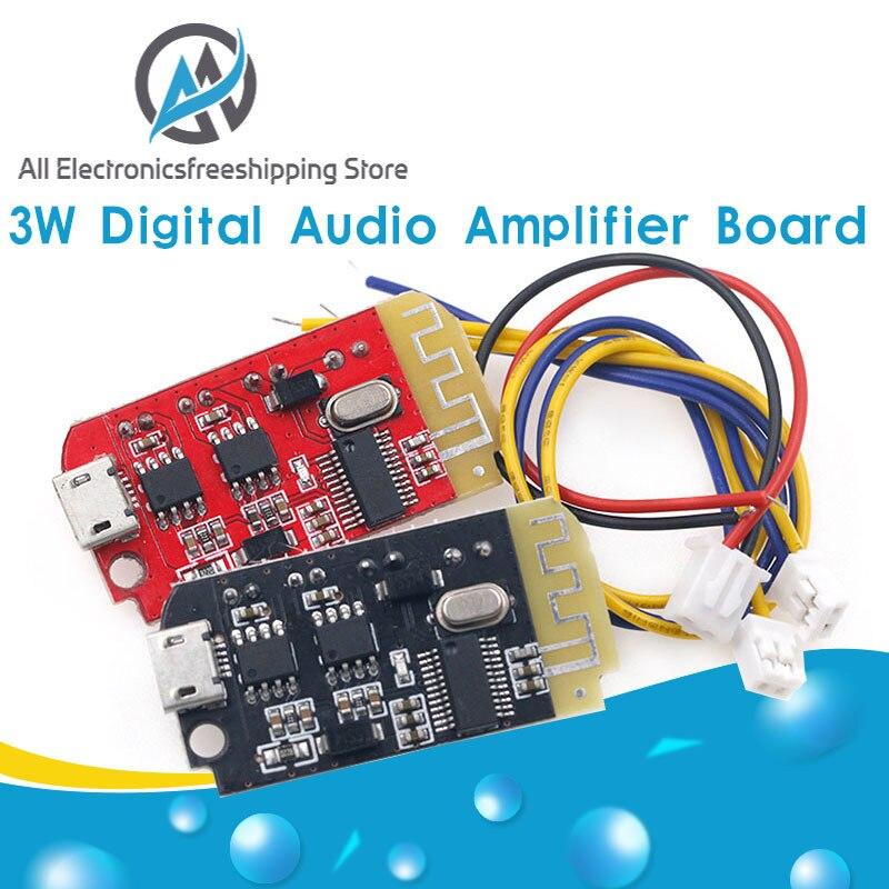 DC 3,7 V 5V 3W Digital Placa de amplificador de Audio doble Dual placa DIY Altavoz Bluetooth modificación música de sonido módulo