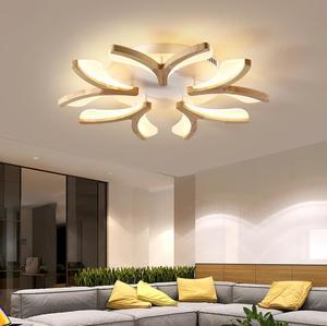 Nordic led modern simple living room ceiling lamp creative warm romantic bedroom ceiling tatami Japanese wood lamp