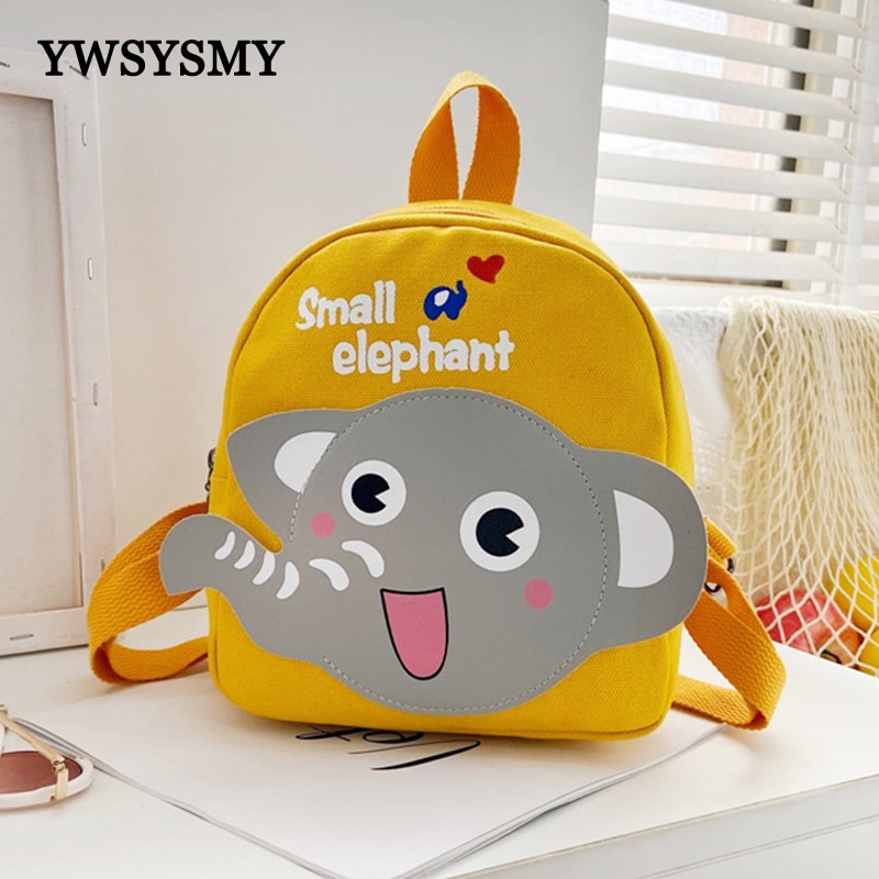 Kindergarten School Bags Toddler Girls Backpack Canvas Boys Bags Cute Cartoon Children Schoolbag Small Backpack 1-3-5 Years Old