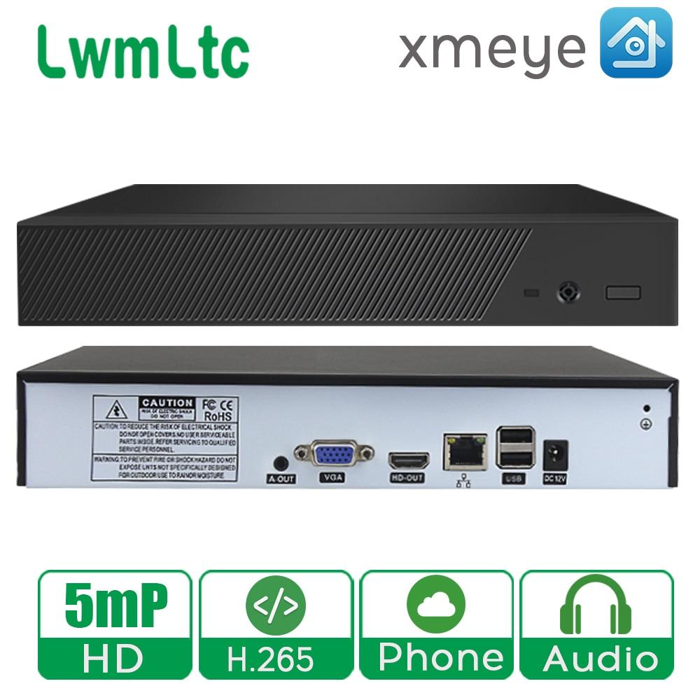 Grabadora de vídeo de vigilancia newwmltc H.265 8CH 16CH 32CH 5MP 4MP 2MP Salida de detección de movimiento ONVIF NVR para cámara IP xmeye