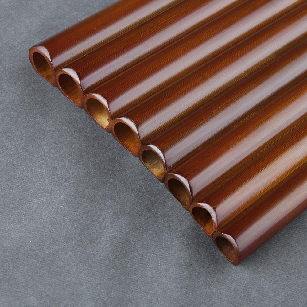 8 Pipes G Key Pan Flute High Quality Pan Pipes Woodwind Instrument Chinese Traditional Musical Instrument Brown Bamboo Pan flute enlarge