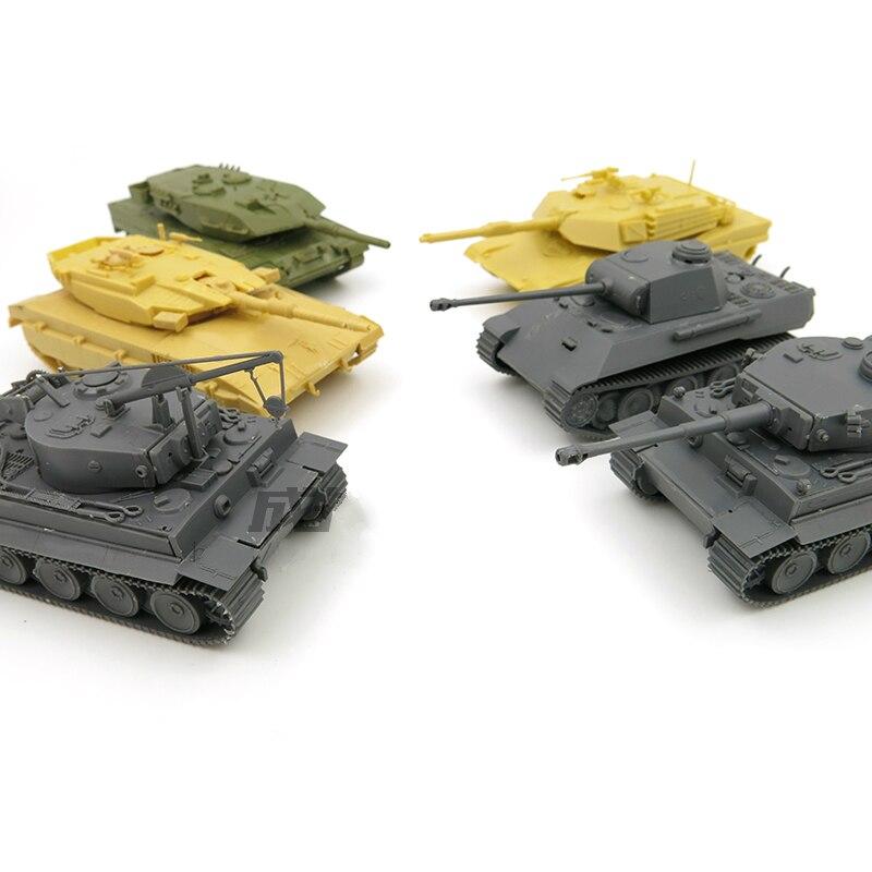1/72 ensamblado modelo tanque Tigre alemán mantenimiento leopardo tanque M1A2 mekava leopardo 2a5 modelos de tanque