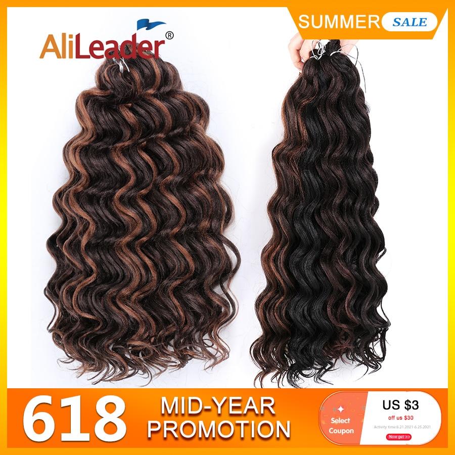 AliExpress - Leeons Freetress Water Wave Braiding Hair Crochet Braid Extensions  9 / 20Inch Ocean Wave Crochet Hair Canecalon Synthetic Hair
