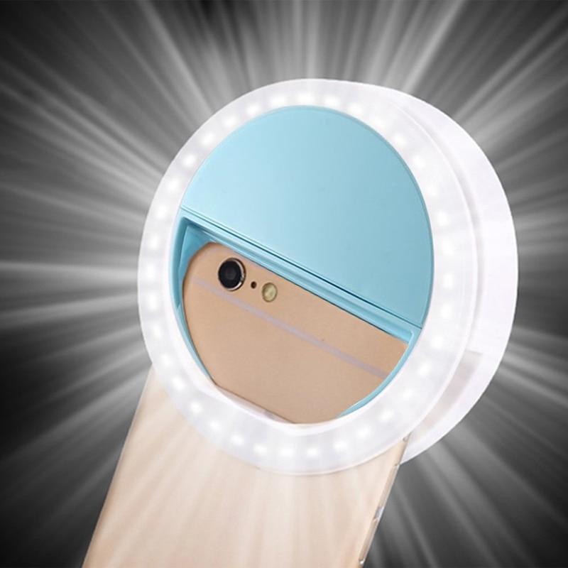 RK12 селфи светодиодная кольцевая лампа портативная Мобильная селфи лампа для Iphone Клип лампе селфи телефон Lampa Na Telefon объектив фотография