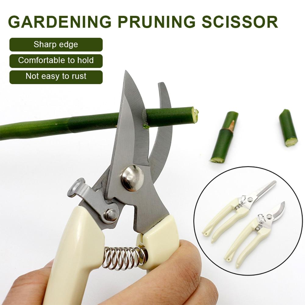 Garden Pruning Shears Stainless Steel Pruning Tools Spring Pruner Cutter Grape Fruit Picking Weed Household Branches Pruner