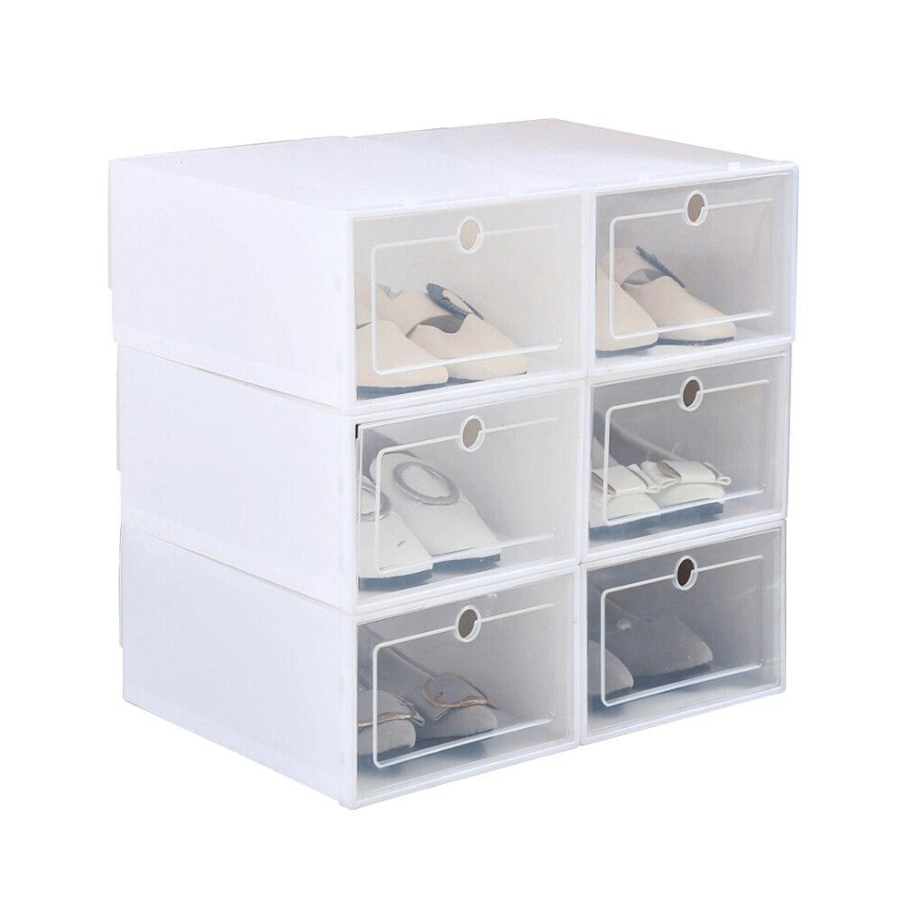 Boîte à chaussures transparente 1 unité   Tiroir empilable, support de boîte, organisateur de rangement pour articles divers, type tiroir boîte à tongs pour salon