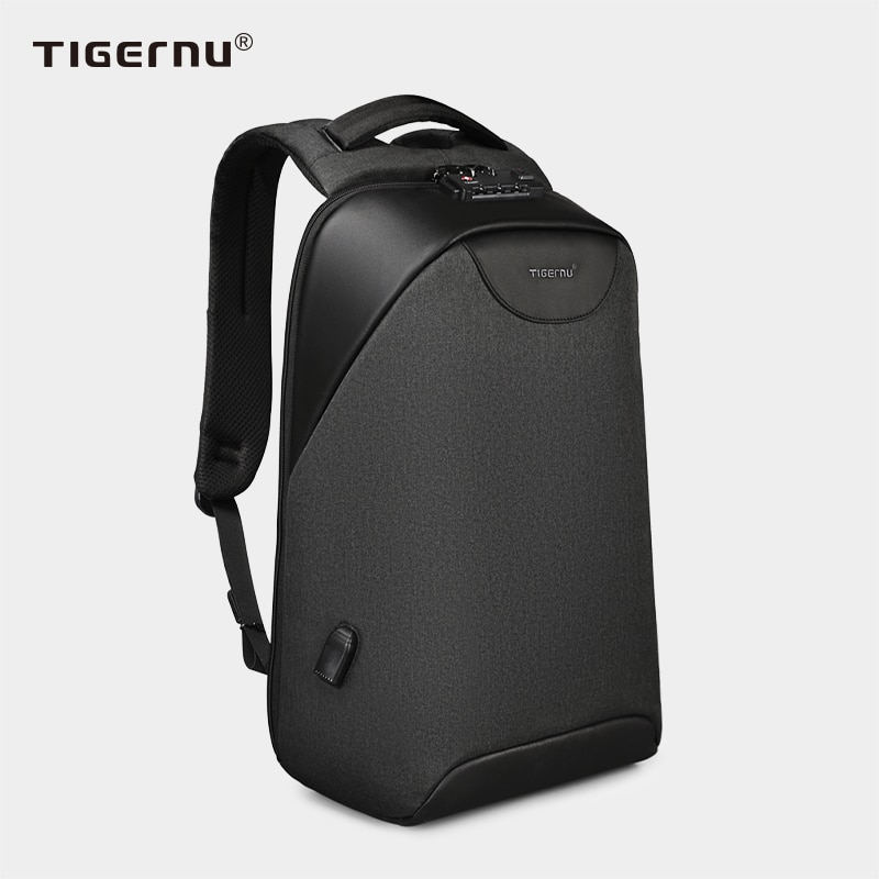 No Key Anti theft TSA Lock Fashion Men Backpacks 15.6inch USB Charging Laptop Backpack 2021 School Backpack For Men For Teenager