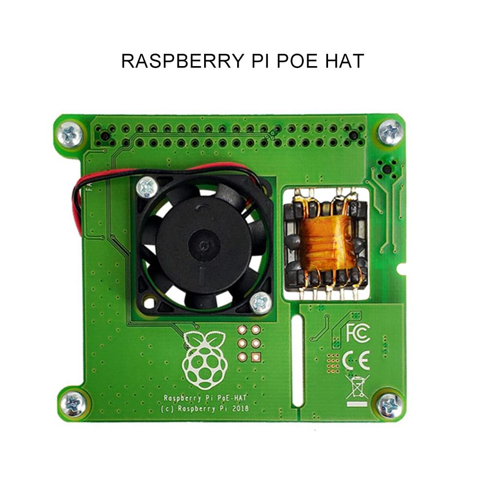 التوت بي 4B/3B + إيثرنت PoE امدادات الطاقة وحدة POE قبعة التوسع مجلس مع مروحة التبريد