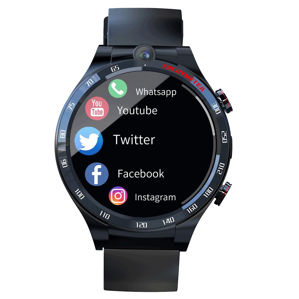 LOKMAT APPLLP4 4G Full Netcom Smart Watch Smartwatch 1.6 inch 4G+128G GPS WIFI Dual Camera Heart Rate Monitor Smart Watch Phone