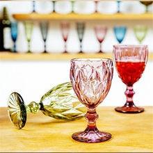 Copo de champanhe copos de vidro 1pc colorido cocktail copos de uísque escultura de cristal suco de vidro taça de vinho de cristal