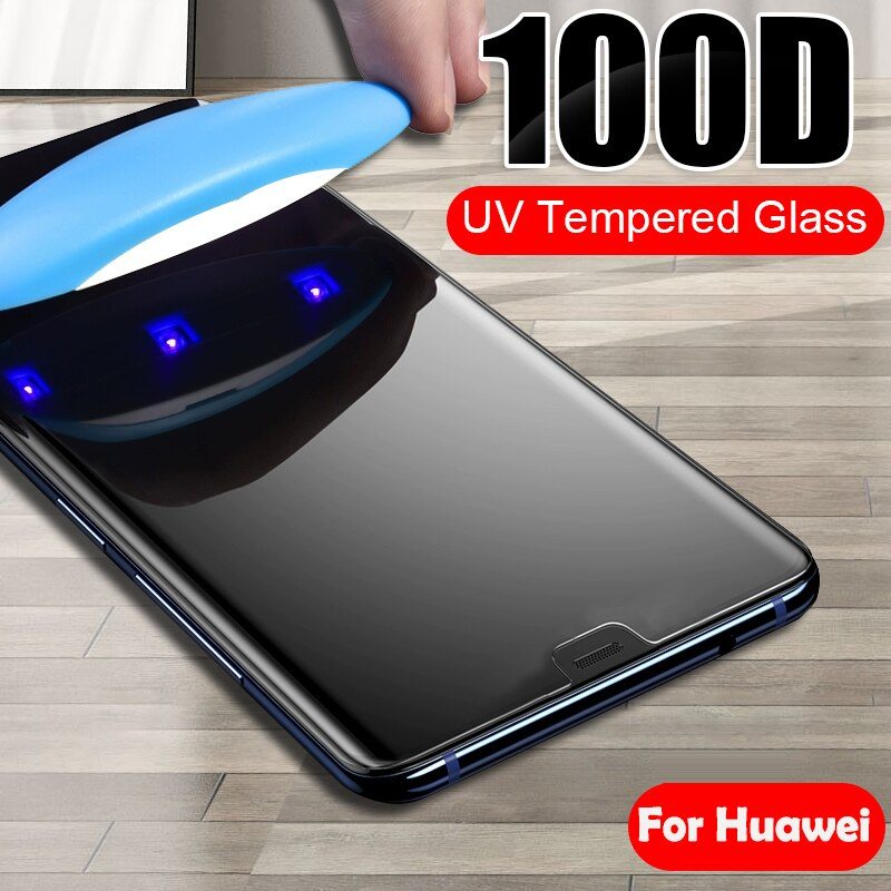 Lamorniea 100D защита от ультрафиолета для huawei Honor 8X9X10 P10 Lite UV закаленное стекло для huawei P Smart Plus Z 2019