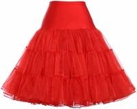 womens crinoline petticoat underskirt knee length red size large